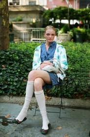on the street���knee socks manhattan 171 the sartorialist